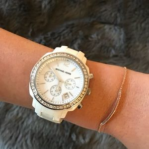 Micahel Kors White watch